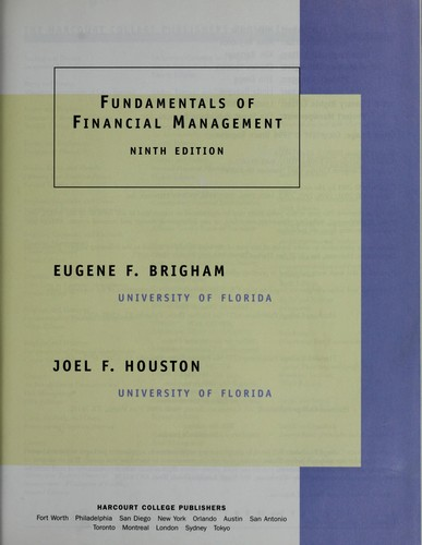 Download Fundamentals of financial management.