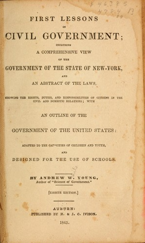 First lessons in civil government