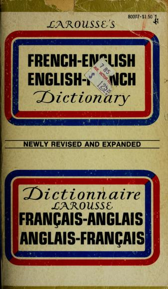 French Eng Dict by Society encyclopedique un