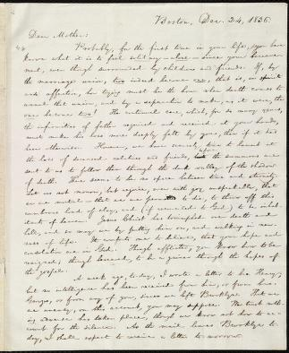 [Letter to] Dear Mother by William Lloyd Garrison
