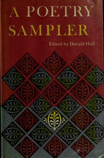 Cover of: A poetry sampler. | Donald Hall