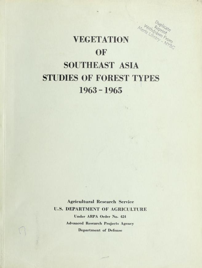 Vegetation of Southeast Asia by Llewelyn Williams