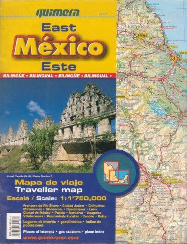 Mexico East Traveller Map by Quimera by Quimera Editores