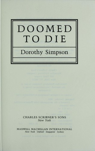 Doomed to die by Simpson, Dorothy