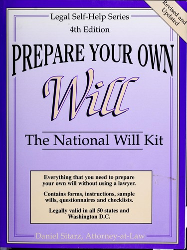 Prepare your own will by Dan Sitarz