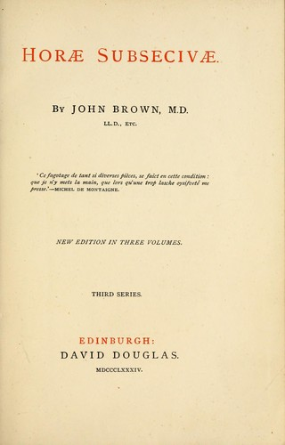 John Leech and other papers by John Brown
