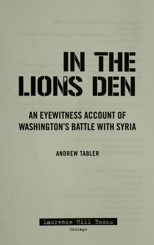In the lion's den by Andrew Tabler